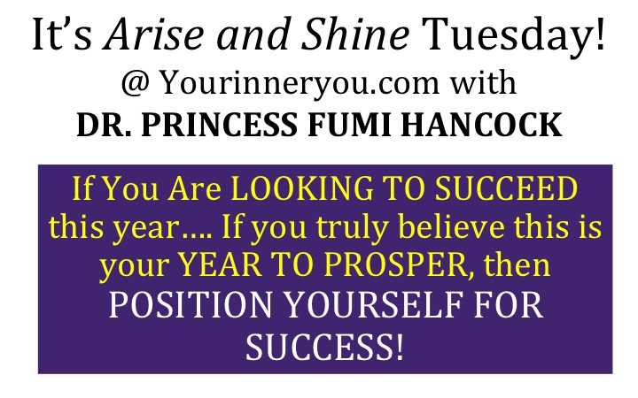 Its arise and shine Tuesday at success blueprint at your inner you