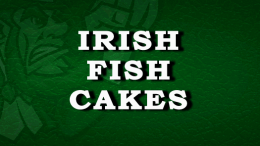 Irish Fish Cakes Recipe