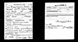 Example of a WWI Draft Registration card