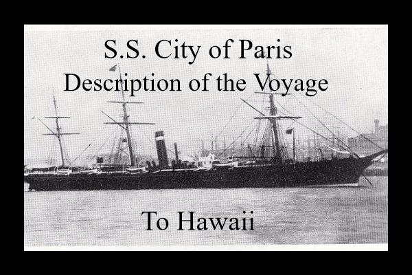 SS City of Paris to Hawaii
