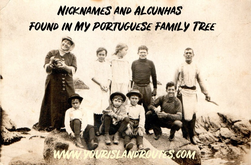 alchunhas nicknames portuguese family photo