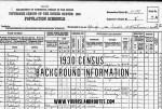1930 Census Background Information