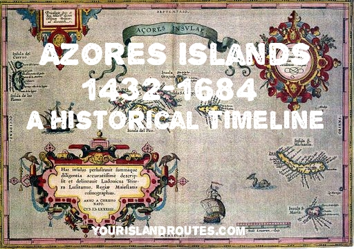 1500s map of the Azores Islands