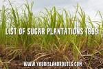 List of Hawaiian Sugar Plantations: 1899