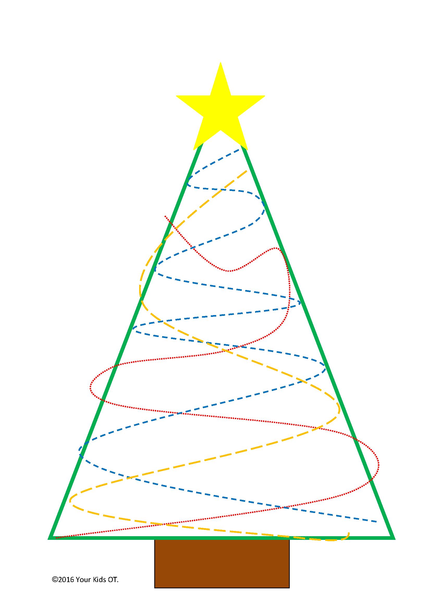 Free Christmas Tree Ot Printable Pack