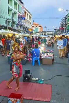 "The ""Walking Street"" market in Krabi Town"