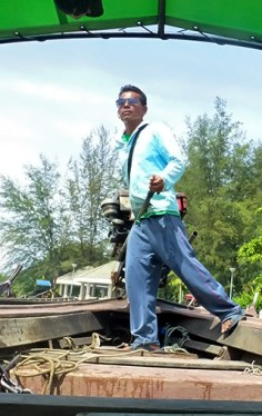 Boatman with no club shirt from Krabi Town