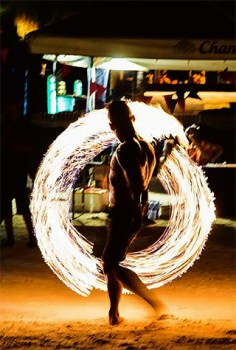 Nightly fireshows on Railay East