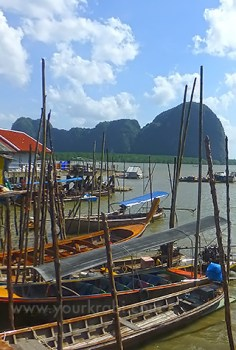 Koh Phanyee boats