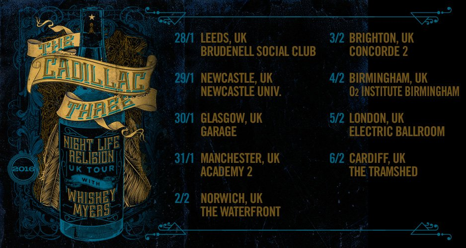 Cadillac Three announce UK tour! - Your Life In A Song