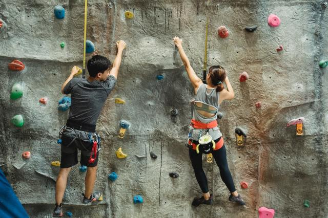Try wall climbing with your date.