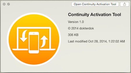 Continuity-Activation-Tool