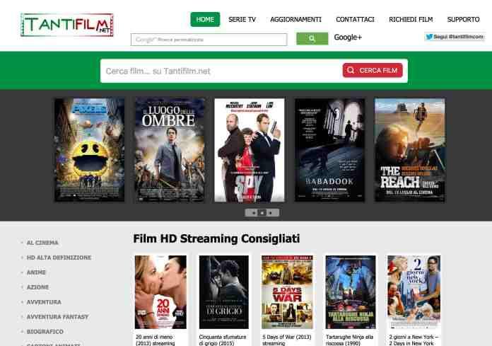 Guardare film streaming con Tantifilm.net