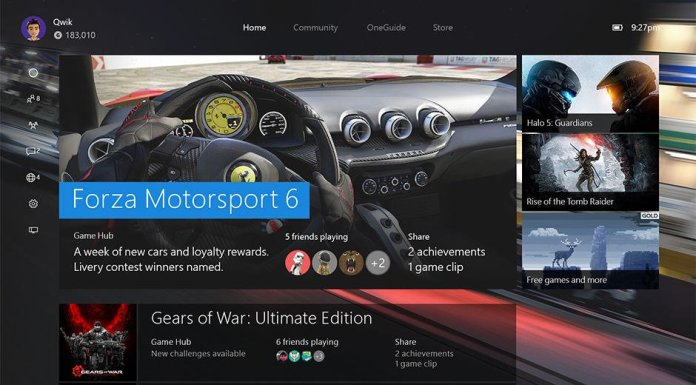 Dashboard-OneCore-Xbox-One