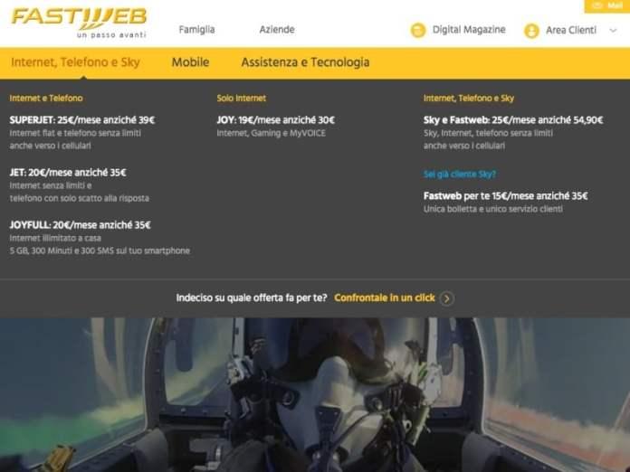 Fastweb Sky Online Offerta
