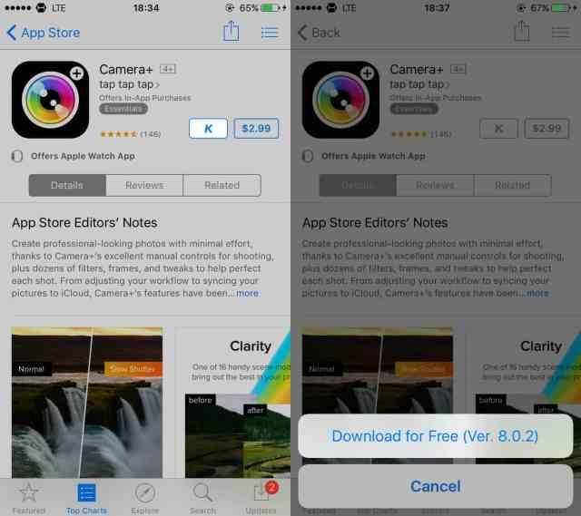 App a pagamento gratis su iPhone
