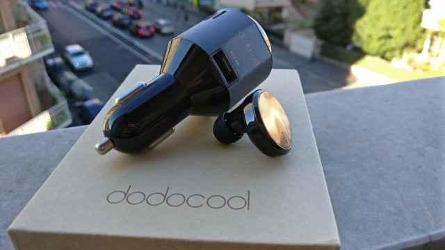 Dodocool Carica Batterie USB da Auto con Purificatore d'Aria e Auricolare Bluetooth (2)