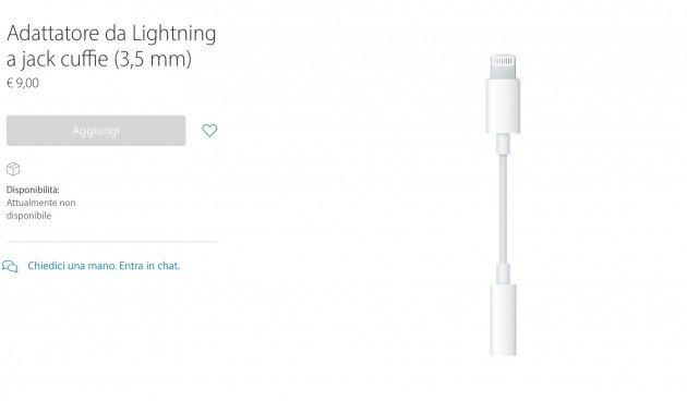 Dove comprare adattatore da Lightning a jack 3,5 mm per