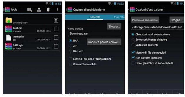 Aprire file ZIP |  RAR e compressi su Android gratis