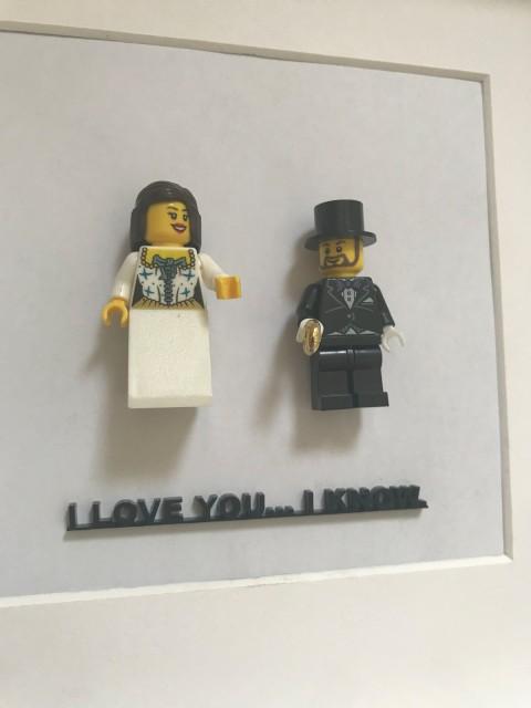Geschenk zur Hochzeit  Brautpaar im Rahmen Spruch nach Wahl