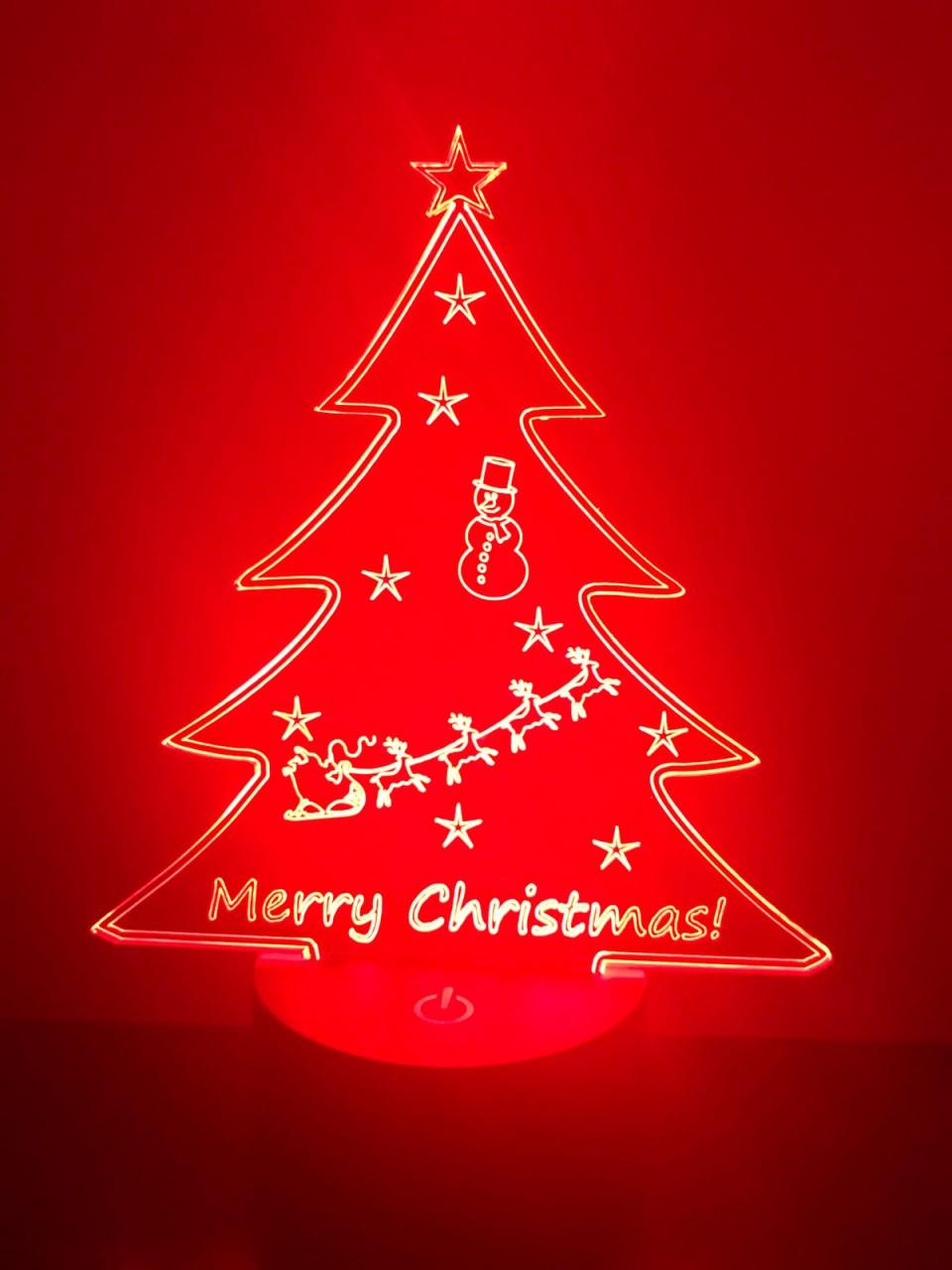 LED Lampe  Weihnachtsbaum  Frhliche Weihnachten