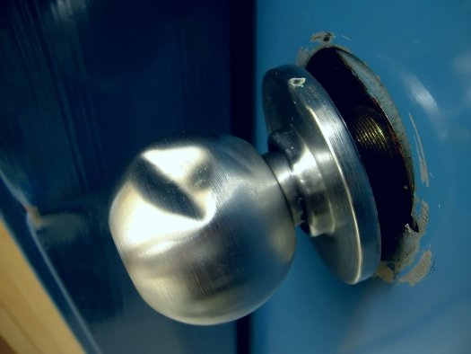 forced entry attack with hammer
