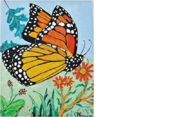 Monarch Butterfly exhibit with art by Patricio Foronda - Deltaville Branch