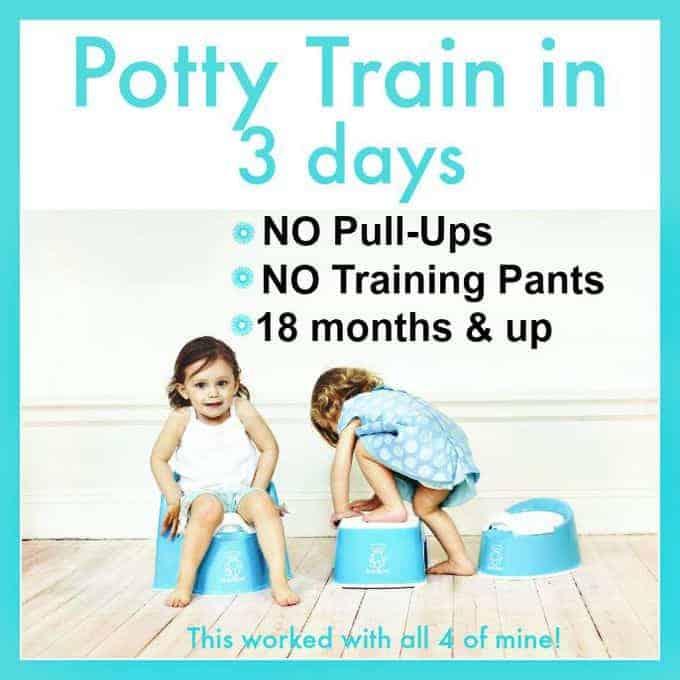 potty train in 3 days