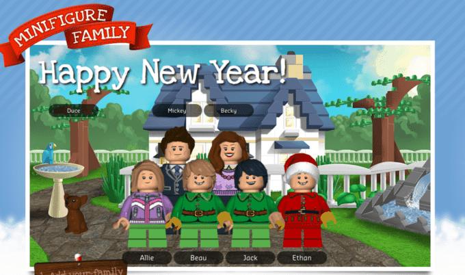 DIY LEGO Family Christmas Card Your Modern Family