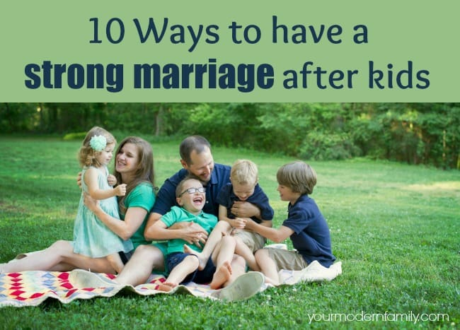 strong marriage after kids