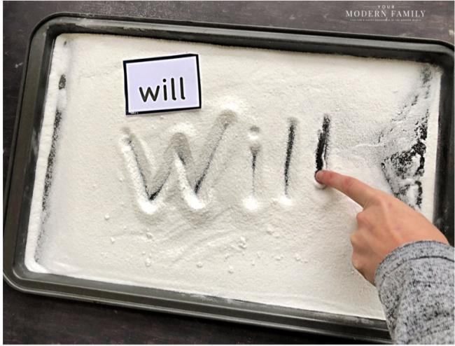 writing in sugar