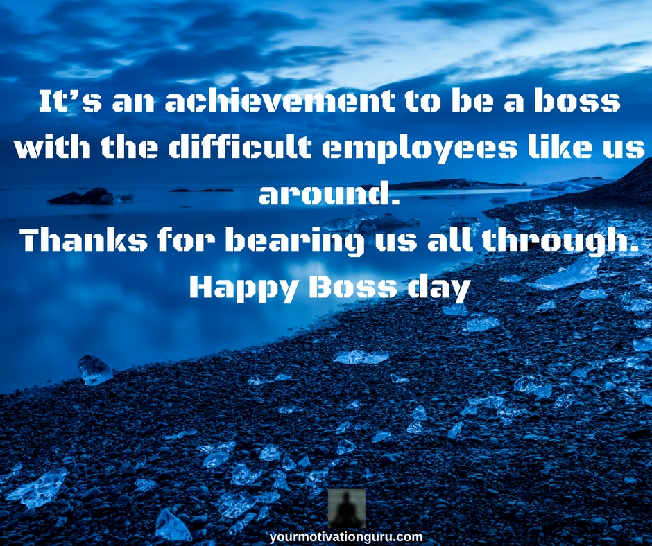 BOSS DAY QUOTES THANK YOU