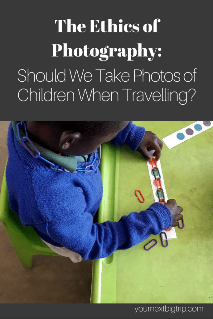Taking photos of children when travelling
