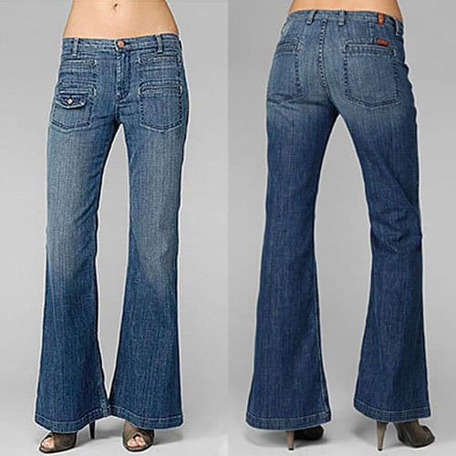 flare bottom jeans