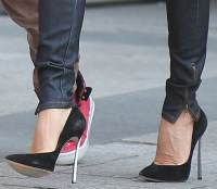 Victoria Beckham Travels Paris in Ultra-High Casadei Pumps