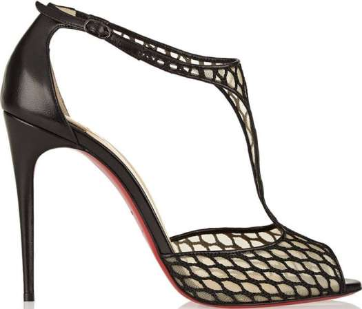 Christian Louboutin Tiny Leather and Lace Sandals