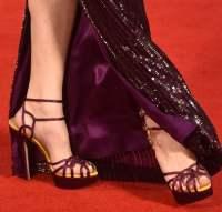 Gemma Arterton in Strappy Charlotte Olympia 'Ursula' Heels