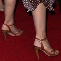 Katie Holmes Shows Scary Feet In Ulla Johnson Shibori