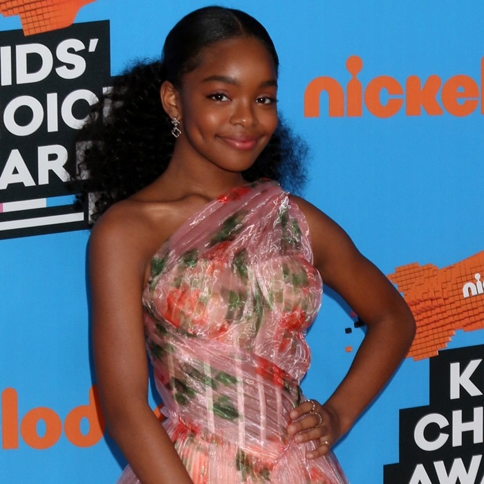 Marsai Martin Exposes Corset And Cups In Loriblu Shoes