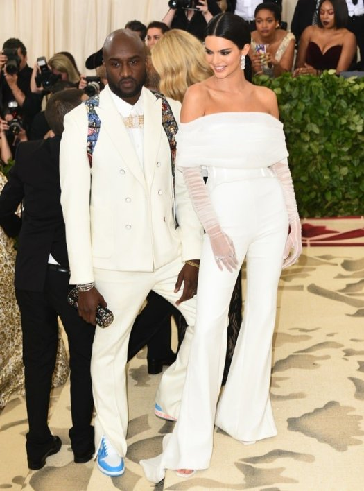 Virgil Abloh and Kendall Jenner at the 2018 Met Gala