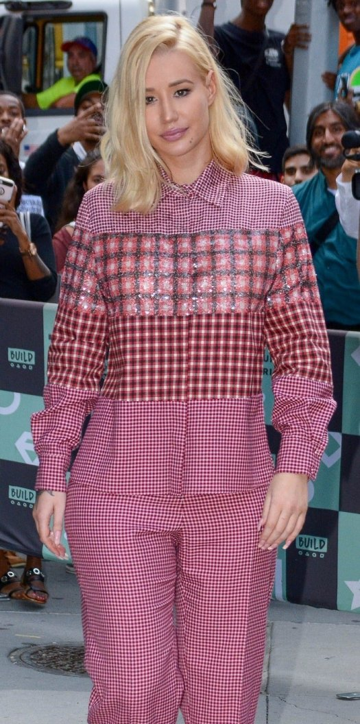 Iggy Azalea in Fendi's houndstooth-patterned pants