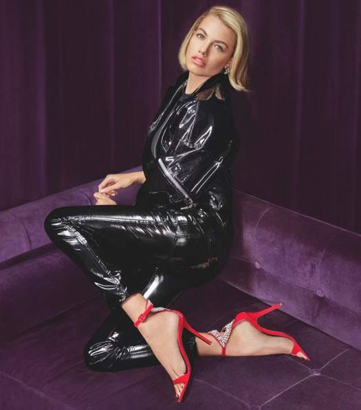 Hailey Clauson, an American model, wore the red versionin Giuseppe Zanotti's Fall/Winter 2018 campaign styled by Carine and photographed by Sebastian Faena