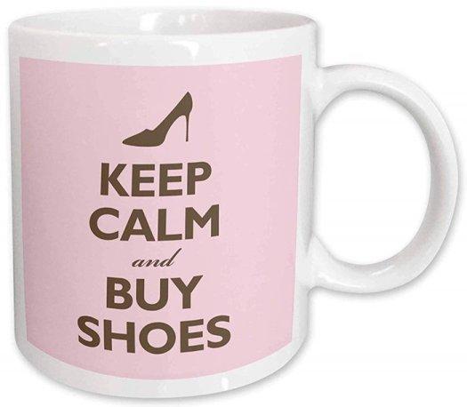 Keep Calm and Buy Shoes Coffee Mug