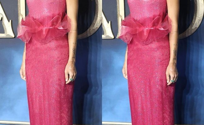 Zoe Kravitz Keeps Sophia Webster Crystal Heels Hidden From