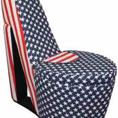 High Heel Chair Cheap Sweet 16 Covers Shoe Chairs Latest Home Trend For The Obsessed American Flag Patriot