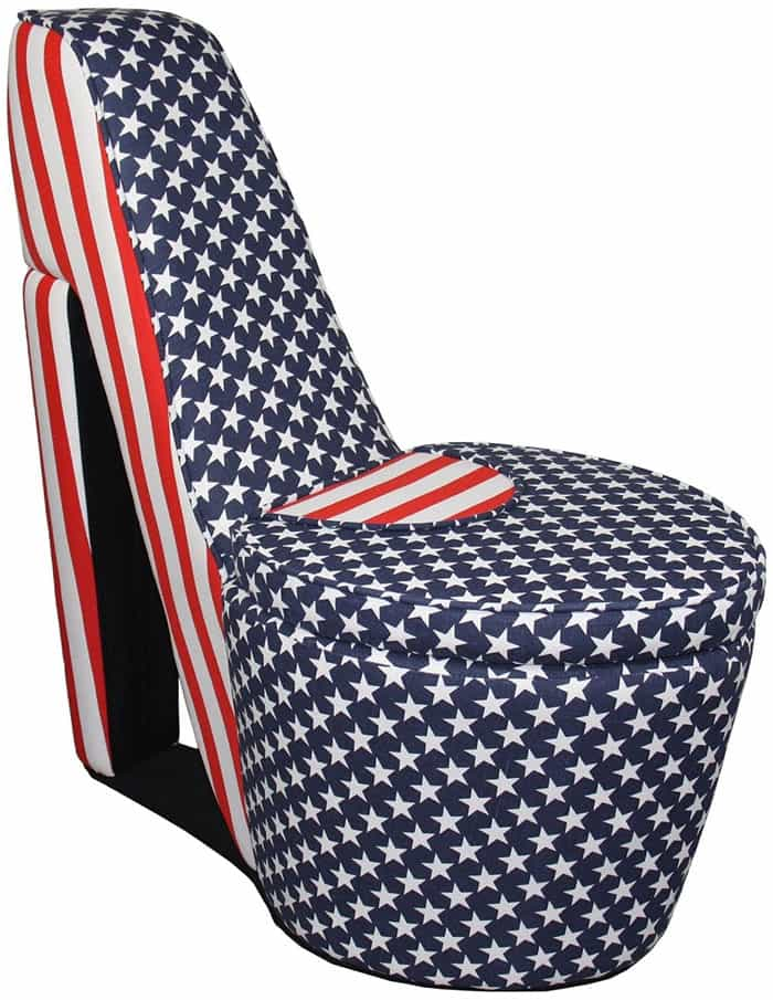 red heel chair recliner ikea high shoe chairs latest home trend for the obsessed american flag patriot