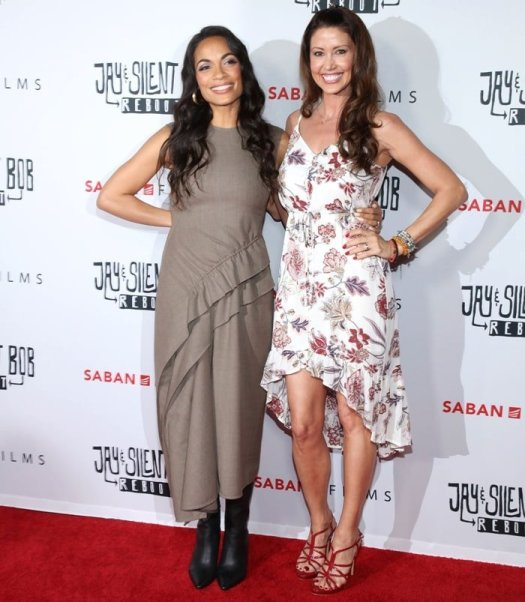 "Rosario Dawson and Shannon Elizabeth at the ""Jay and Silent Bob Reboot"""