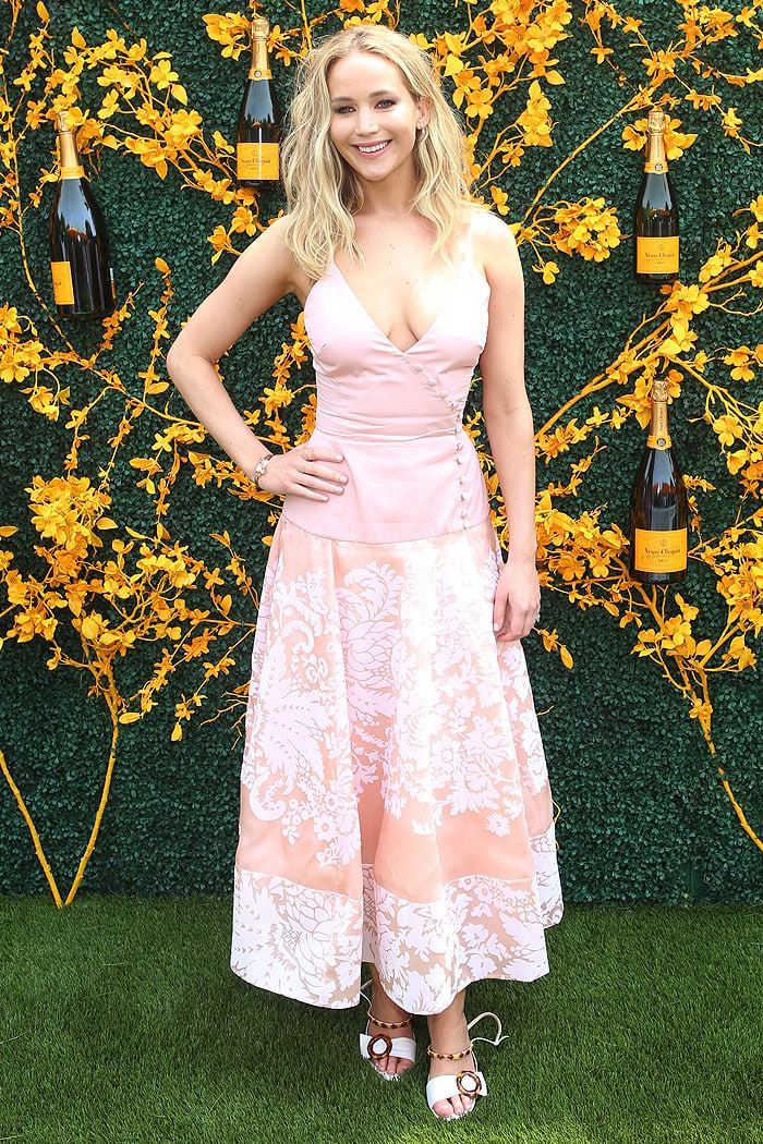 7204a046ba16 Jennifer Lawrence at the 2019 Veuve Clicquot Polo Classic at the Liberty  State Park in Jersey