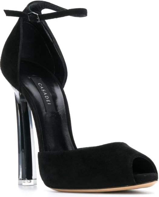 CASADEI peep-toe plexi blade sandals