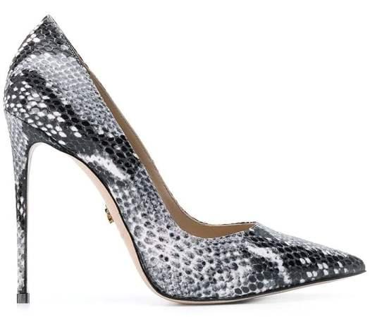 Le Silla Eva Pumps in Black Python